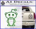 Reddit Alien D1 Decal Sticker Green Vinyl Logo 120x97