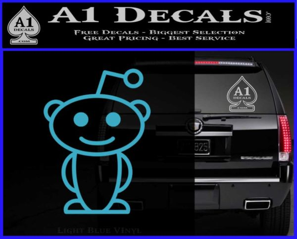 Reddit alien d1 decal sticker light blue vinyl 120x97