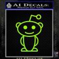 Reddit Alien D1 Decal Sticker Lime Green Vinyl 120x120