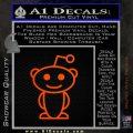 Reddit Alien D1 Decal Sticker Orange Emblem 120x120