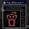 Reddit Alien D1 Decal Sticker Pink Emblem 120x120