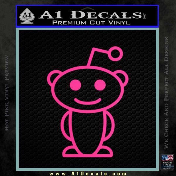 Reddit alien d1 decal sticker pink hot vinyl 120x120