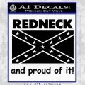 Redneck And Proud Confederate Flag Decal Sticker Black Vinyl 120x120