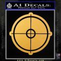 Rifle Scope DN Decal Sticker Gold Vinyl 120x120