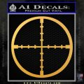 Rifle Scope Decal Sticker D1 Gold Vinyl 120x120