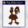 Robot Chicken Decal Sticker BROWN Vinyl 120x120