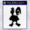 Robot Chicken Decal Sticker Black Vinyl 120x120