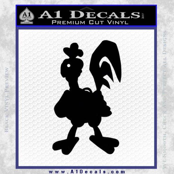 Robot Chicken Decal Sticker Black Vinyl