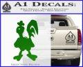Robot Chicken Decal Sticker Green Vinyl Logo 120x97