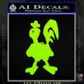 Robot Chicken Decal Sticker Lime Green Vinyl 120x120