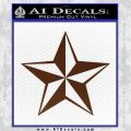 Rock Star Decal Sticker P5 BROWN Vinyl 120x120