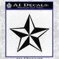 Rock Star Decal Sticker P5 Black Vinyl 120x120
