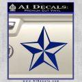 Rock Star Decal Sticker P5 Blue Vinyl 120x120