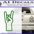 Rocker Hand Decal Sticker Green Vinyl Logo 120x120