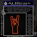 Rocker Hand Decal Sticker Orange Emblem 120x120