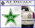 Rockstar Energy Drink D2 Decal Sticker Green Vinyl Logo 120x97