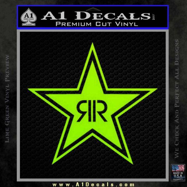 Rockstar Energy Drink D2 Decal Sticker Lime Green Vinyl