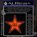 Rockstar Energy Drink D2 Decal Sticker Orange Emblem 120x120