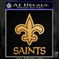 Saints D2 Decal Sticker Gold Metallic Vinyl Black 120x120