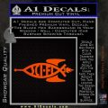 Sci Fi Jesus Fish Decal Sticker Orange Emblem 120x120