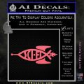 Sci Fi Jesus Fish Decal Sticker Pink Emblem 120x120