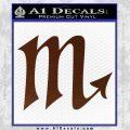 Scorpio Zodiac Decal Sticker D2 BROWN Vinyl 120x120