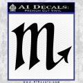 Scorpio Zodiac Decal Sticker D2 Black Vinyl 120x120