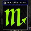 Scorpio Zodiac Decal Sticker D2 Lime Green Vinyl 120x120