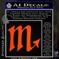 Scorpio Zodiac Decal Sticker D2 Orange Emblem 120x120