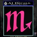 Scorpio Zodiac Decal Sticker D2 Pink Hot Vinyl 120x120
