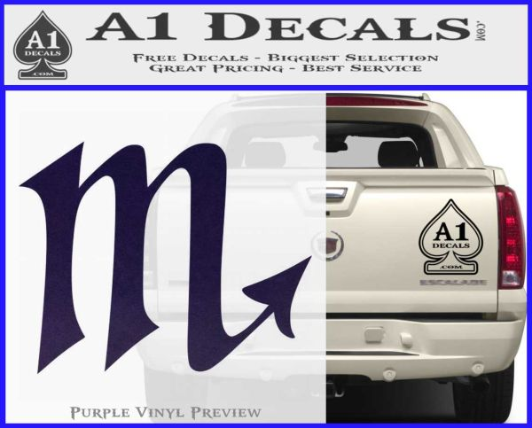 Scorpio zodiac decal sticker d2 purpleemblem logo 120x97