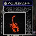 Scorpion Decal Sticker Orange Emblem 120x120