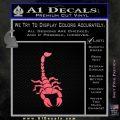 Scorpion Decal Sticker Pink Emblem 120x120