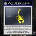 Scorpion Decal Sticker Yellow Laptop 120x120