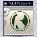 Skin Industries Decal Sticker CR Dark Green Vinyl Black 120x120