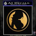 Skin Industries Decal Sticker CR Gold Metallic Vinyl Black 120x120