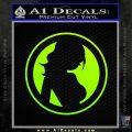 Skin Industries Decal Sticker CR Neon Green Vinyl Black 120x120