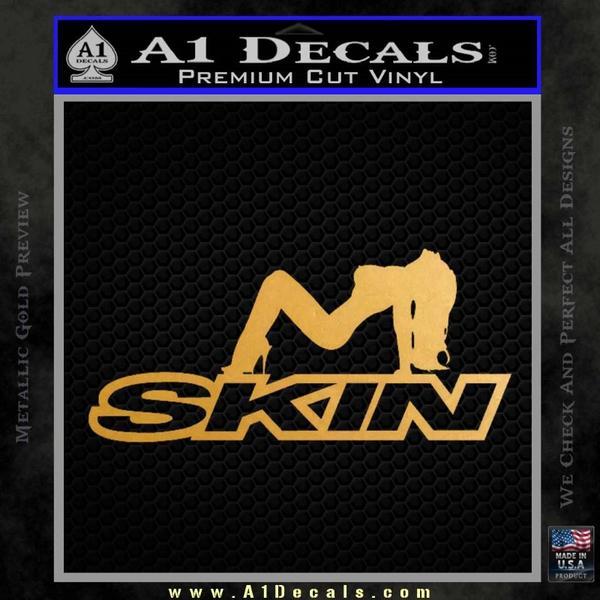Skin Industries Decal Sticker Sexy Gold Metallic Vinyl Black