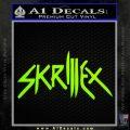 Skrillex Decal Sticker Full Neon Green Vinyl Black 120x120