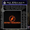 Skynet Decal Sticker Terminator Orange Emblem Black 120x120