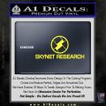 Skynet Decal Sticker Terminator Yellow Vinyl Black 120x120