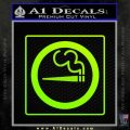 Smoking Allowed Toking 420 Decal Sticker Neon Green Vinyl Black 120x120