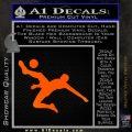 Soccer Player Kick Decal Sticker Orange Emblem Black 120x120