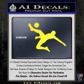 Soccer Player Kick Decal Sticker Yellow Vinyl Black 120x120