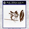 Sparta 300 Spartan Shield Trident Decal Sticker Brown Vinyl Black 120x120