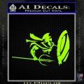 Sparta 300 Spartan Shield Trident Decal Sticker Neon Green Vinyl Black 120x120