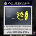 Sparta 300 Spartan Shield Trident Decal Sticker Yellow Vinyl Black 120x120