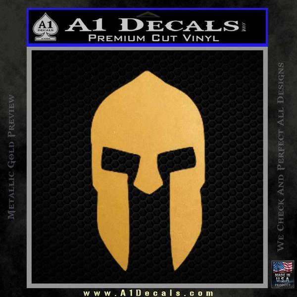 Spartan 300 Helmet Decal Sticker Gold Metallic Vinyl Black