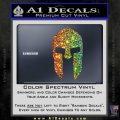 Spartan 300 Helmet Decal Sticker Spectrum Vinyl Black 120x120