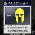 Spartan 300 Helmet Decal Sticker Yellow Vinyl Black 120x120